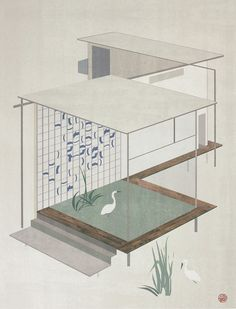 Las poéticas y geométricas ilustraciones del joven artista Jon Koko.