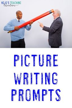There are times where you're short on writing time, but you can still make the most of your writing block with these funny picture writing prompts! Picture Writing Prompts, Year 2, Upper Elementary, Literacy Centers, Special Education, Homeschooling, Writers, Middle School, Funny Pictures
