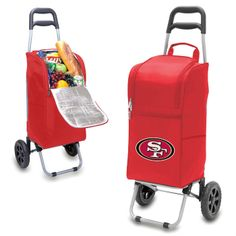 San Francisco 49ers Red Cart Cooler at www.SportsFansPlus.com