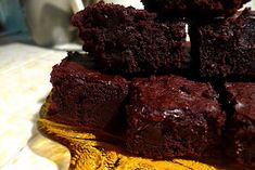 Alton Brown's Cocoa Brownies, THE fussiest brownie recipe I've ever made and by far the best brownie recipe IN THE UNIVERSE.  Gift-able brownies.