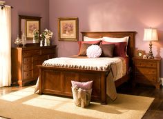Add a touch of beautiful transitional style to your bedroom with this Geneva queen panel bed.