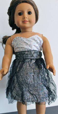Winter Formal Dress For American Girl Doll by TheLittlestFrockShop, $20.00
