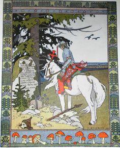 Ivan Bilibin Tale about Ivan-tzarevich, Fire-bird and Grey Wolf