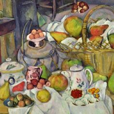 Collage di alcuni quadri di Paul Cezanne لقد اهتم بول سيزان كفنان برسم الفاكهة والأزهار وله أسلوبه المميز والذي يختلف عن غيره من القمم ، قارن أعماله مع أعمال كلود مونت ،،، لكل أسلوبه الخاص !!     Paul Cezanne has taken care as an artist with drawing of fruit and flowers and has a distinctive style, which is different from other peaks, compare his work with the work of Claude Monte,,, for each his own style!!