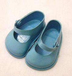 Vintage Cinderella No. 2 Blue Doll Shoes by by VictorianWardrobe, $7.99