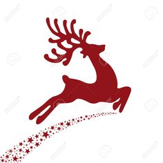 Red Reindeer Flying Stars Royalty Free Cliparts, Vectors, And Stock Illustration. Image 22553594.