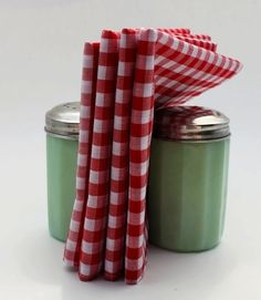 Perfect kitchen combo; vintage and gingham