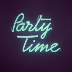 Party Time Light Up Neon Word Art Sign | Typography