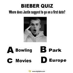 Justin bieber quiz