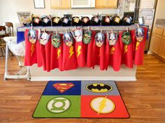 Superhero capes and masks at a boy birthday party!  See more party planning ideas at a CatchMyParty.com!