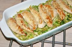 Ostegratineret kylling med savoykål - i fad