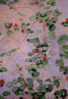 Nasturtiums, by Gustave Caillebotte, 1892. Oil on canvas