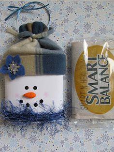 Snowman Popcorn Sleeve, Snowman Fun Foods & Creative Cuisine