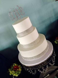 Diamond Band Wedding Cake