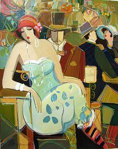 Women in Painting by Israeli Artist Isaac Maimon