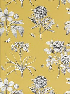 A favourite pin: Sanderson wallpaer, ecthings and roses #johnlewis #wallpaper