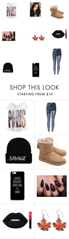 """didn't they tell u i was a SAVAGE????????"" by lilmunchy ❤ liked on Polyvore featuring UGG and Lime Crime"