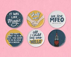 You've Got Mail button set featuring illustrations, quotes, Meg Ryan, Tom Hanks, a bouquet of sharpened pencils Sleepless In Seattle, You've Got Mail, Meg Ryan, Tom Hanks, Anniversary Sale, Get One, Coupon Codes, Magnets, Patches