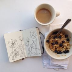 daily drawing with breakfast | year of creative habits