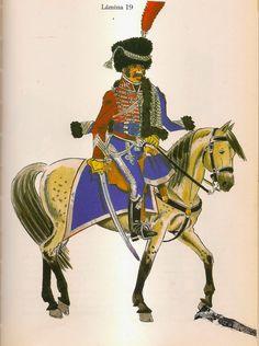 Spain; Hussars of Iberia, Officer.