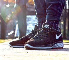 Nike Flyknit Lunar2-Black-White-Dark Grey