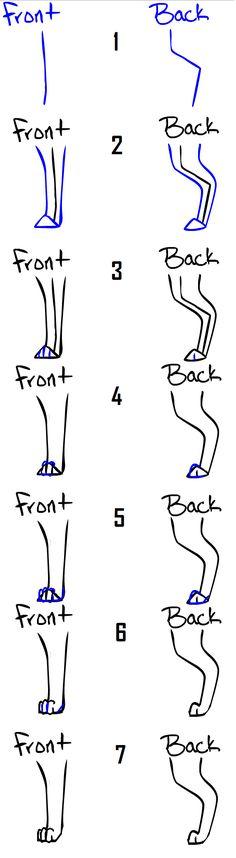 Drawing dog/cat legs