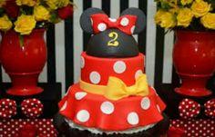 Bolo Mickey E Minnie, Mickey Party, Minnie Mouse Party, 3rd Birthday Cakes, Minnie Birthday, Bolo Fake Minie, First Birthdays, Ale, Ideas