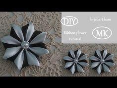 DIY/How to/Kanzashi flower Tutorial/Ribbon flower/Flor de cinta/MK/канзаши…