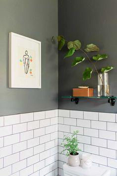 Contrasting Paint Highlights The Bright Tile On Design*Sponge