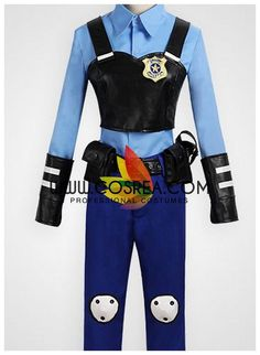 Costume DetailZootopia Judy Police Officer Cosplay CostumeIncludes - Top, Vest, Brooch, Pants, Belt Set Custom sizing is free and available...