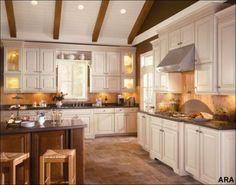 American Woodmark s Savannah Maple Butterscotch KItchen Cabinet