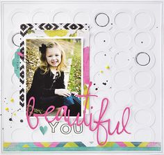 Beautiful You - scrapbooking with your Silhouette (cut file free for short time to celebrate #NSD2015 ! )