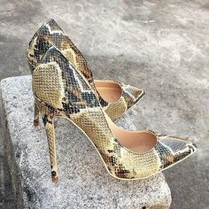 Cheap bridal shoes, Buy Directly from China Suppliers:Veowalk Python Printed Women Sexy Pointed Toe Stiletto High Heels Ladies Fashion Pumps Party Bridal Shoes Big Size Green High Heels, Sexy High Heels, High Heels Stilettos, Bridal Shoes, Wedding Shoes, Party Wedding, Python Print, Club Shoes, Beautiful High Heels
