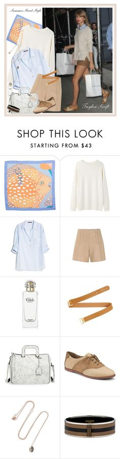 """Taylor Swift Visiting a Friend in NYC - July 2014"" by marthalux ❤ liked on Polyvore featuring Hermès, Base Range, MANGO, Carven, Chloé, 3.1 Phillip Lim, Sperry Top-Sider, BROOKE GREGSON, women's clothing and women"