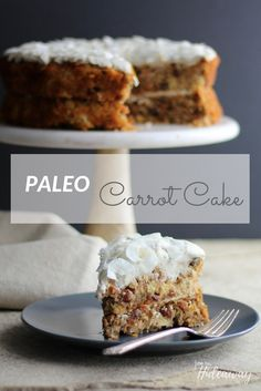 Gluten-Free, Dairy-Free, Paleo Carrot Cake FromOurHideaway.com