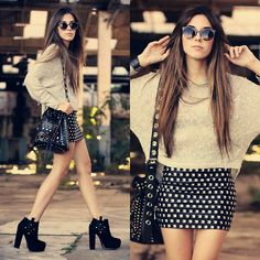 Lovelly Saly Skirt, Antix Jumper, Zero Uv Sunglasses, Iclothing Bag