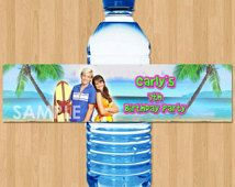 Check out our teen beach movie selection for the very best in unique or custom, handmade pieces from our paper & party supplies shops. Teen Beach Party, Beach Party Favors, Birthday Party Favors, Beach Blanket Bingo, Water Bottle Labels, Printable, Handmade Gifts, Movies, Etsy