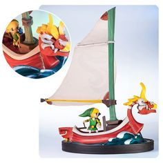 BLOG DOS BRINQUEDOS: The Wind Waker Link on the King of Red Lions Statu...