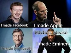 made the best! Thank you so much Dre we all Love you for what you did for Eminem and you yourself are. Eminem Funny, Eminem Memes, Eminem Rap, Eminem Quotes, Rap Quotes, Qoutes, Bruce Lee, Crush Memes, Funny Tumblr Comments