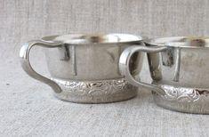 Soviet Vintage Glass-Holders, Set of 2