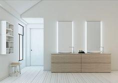 Mobile lavabo doppio / da appoggio / moderno STRATO.17 by Sergio Rochas Inbani