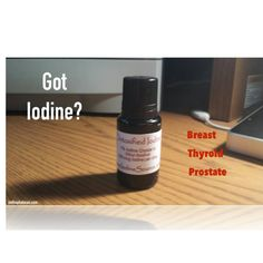 Got #iodine? The #breast, #thyroid , and #prostate all hold iodine receptors. Are you getting enough? #sideeffects of iodine may include increased energy and decreased worry you may have conditions involving the breast, thyroid, or prostate. Can you dig it? Simple but effective. Talk to your body and take care of it and it will take care of you. One #love! #imthephatman