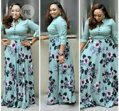 Unique Pretty Long Turkey Gown for sale in Isolo African Print Shirt, African Print Dress Designs, African Print Fashion, Latest African Fashion Dresses, African Dresses For Women, African Attire, Yellow Skirt Outfits, Cute Dress Outfits, Plus Size Shirt Dress