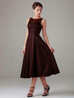 01c99deddea Satin Skirt- Mother of the Bride dress Tea Length Dresses, Mother Of The  Bride
