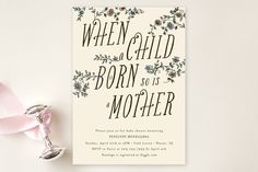 A Mother's Birth Baby Shower Invitations by 24th a... | Minted