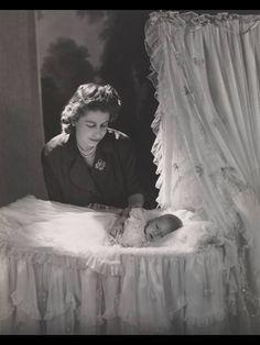 Elizabeth with Charles. 1948