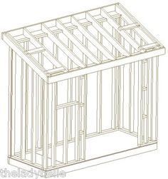 1000 ideas about wood shed plans on pinterest wood shed for Slant roof shed plans