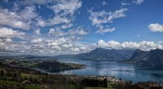 View of Lake Lucerne, Rigi, Bürgenstock on the first real Spring-like day! Photo Take: April 13, 2013