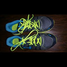 Moving Sale! Under Armour shoes Worn for walking only a few times. Grey, blue and yellow detail. Under Armour Shoes Sneakers