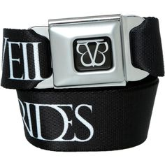 Black Veil Brides Symbol Seat Belt Belt | Hot Topic ($21) ❤ liked on Polyvore featuring accessories, belts, black veil brides, other and bridal belt
